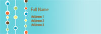 Bead Curtain Address Label Template